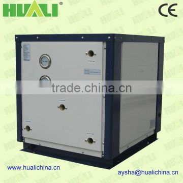 Underground water source heat pump for heating and cooling