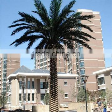 LZB081422 outdoor fiberglass palm tree artificial decorative metal palm trees for sale