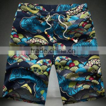 OEM Service for 100% polyester Men's Beach Shorts/ Printed shorts