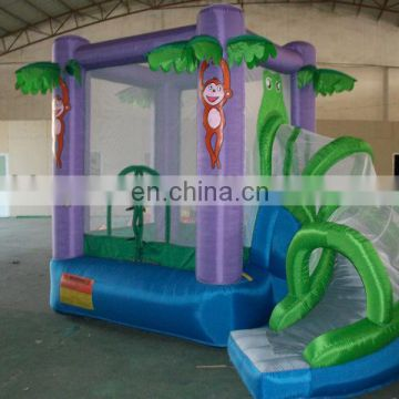 Newly Designed colorful inflatable bouncer with slide
