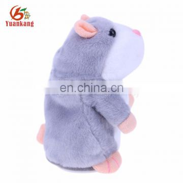 Custom cute talking sound record plush hamster toy for kids