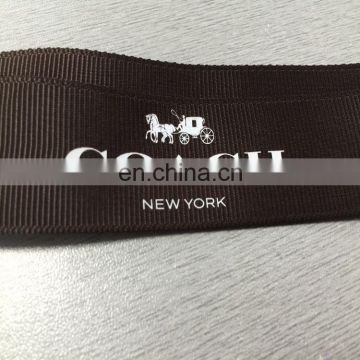 High quality zeal-x packing grosgrain ribbon embossed logo