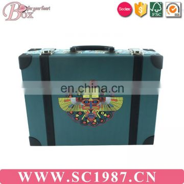 Large paper cardboard kids suitcase box