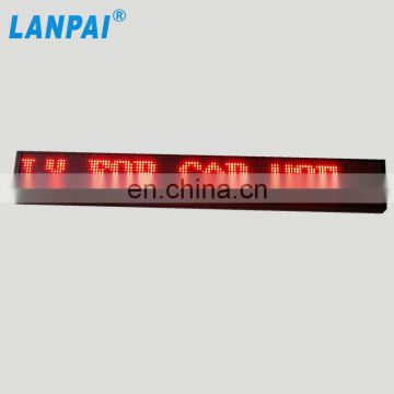 high quality double color display p7.62 message moving led sign
