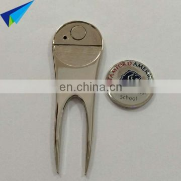 Bulk Blank Golf Divot Repair Tool with Printed Logo Ball Marker
