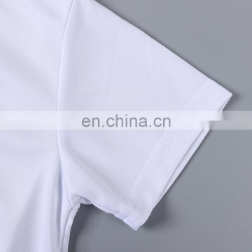 Factory Wholesale Round-neck Sublimation Milk Silk Polyeste T-shirt