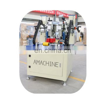 Advanced knurling machine and strip feeder for aluminum window and door
