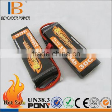 China factory 12v lithium battery 2300mah with excellent discharge for RC airplane and helicopter battery