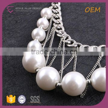 N74387K01 STYLE PLUS silver plate traditional pearl necklace designs for modern girls