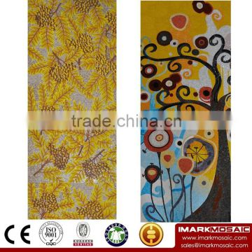 IMARK Golden Color Glass Mosaic Mural/Mosaic Wall Pattern/Hand Cut Mosaic Tile For Wall Decoration                                                                         Quality Choice