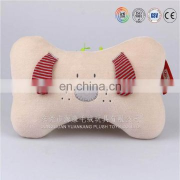 animal head travel neck massage U shape decorative plush pillow
