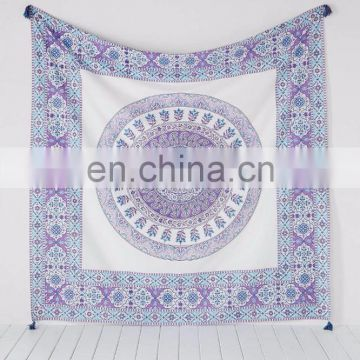 Mandala Tapestry Hanging Decor Bohemian Indian Wall Hanging Hippie Mandala Tapestries Bedspread Ethnic Art Bedding Twin size