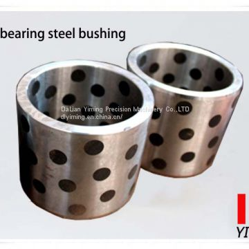 Self lubricating steel bushing, bearing steel and cast iron inlaid graphite, oi-free bearing bush