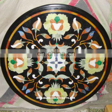 Black Inlay Marble Table