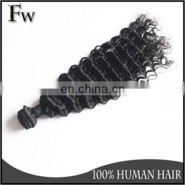 Free sample 7a grade deep wave 100% remy human hair extensions virgin brazilian hair 3 bundles