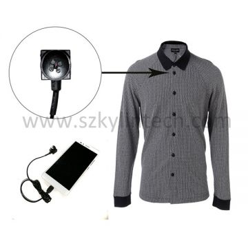 USB Spy shirt button external camera for mobile smartphone