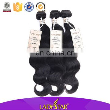 Ladystar Brand Brazilian Hair Body Wave Human Hair Extensions for Black Women