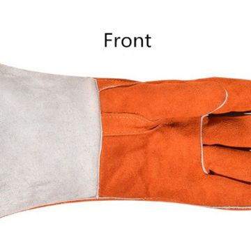 Welding Worker Leather Gloves Heat Resistant Safety Work Gloves Hand Protection