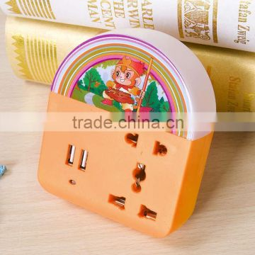 Bed lamp phone charge multiple electrical switch socket usb power outlet