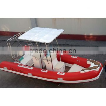 China manufacturer made new 17ft RIB rigid hypalon