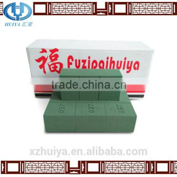 hebei huiya dark green floral foam brick with 22.5*10.5*7.5cm for flower decoration