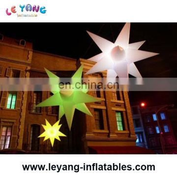 Inflatable Hanging Lighting Star for Hotel