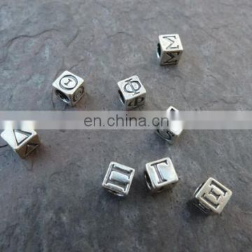 New product 2015 custom letter dice beads wholesale greek letter beads