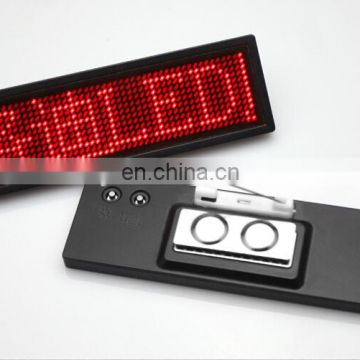 Custom logo magnetic name badge, led badge, led pin badge