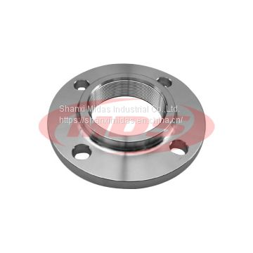 BS4504 PN16 carbon steel welded neck threaded flange