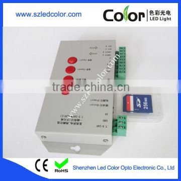 T1000 SD Card Dream Color LED Controller, RGB LED Controller 2048 Pixels, Digital LED Strip Controller