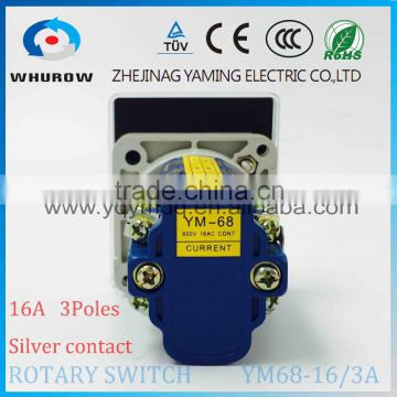 Cam switch selector YM68-16/3A Ammeter 3 poles 4 positions ... on mobile rotary switch, 4 position selector switch, 4 pole switch diagram, 4 position rotary limit switch, 2 pole light switch, two pole three-way rotary switch, 4 position rotary key switch, 6 pos rotary cam switch, four pole switch, leviton rotary switch, 4 pole slide switch,