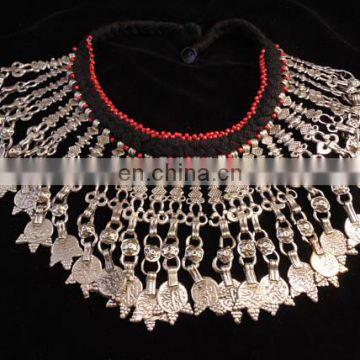 Afghan necklace - Kuchi jewelry - tribal necklace -vintage jewelry -Turkmen Vintage Afghani Kuchi Tribal Necklace