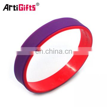 Fashionable customized rubber bracelets for men