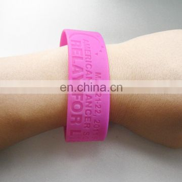 "Cheap fashionable all kinds of silicon 1"" wide rubber band"