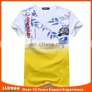 Group events wear yellow comfortable o neck t shirts