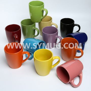 14 oz belly shape ceramic coffee mugs