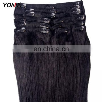 Wholesale 100% Virgin Human Hair Extension Clip In Hair Extension For Black Women
