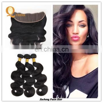 Full Lace Frontal Lace Closure with Bundles