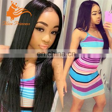 straight layed full lace wig brazilian human hair for woman straight hair brazilian lace front wigs wholesale