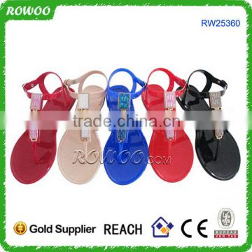 99ac63badf56 Wholesale pvc jelly color shoes women sandals of Plastic pvc slippers from  China Suppliers - 109762905