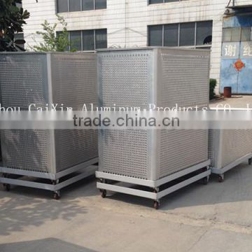 Perforated sheet Aluminum seafood storage container aluminum basket