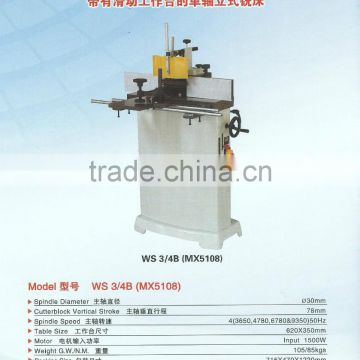 Stand style single spindle wood shaper with sliding worktable 010