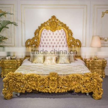 Luxury European French Style Bedroom Furniture Set, Antique Carved Gold  Wood Fabulous Gorgeous Bedroom Set ...