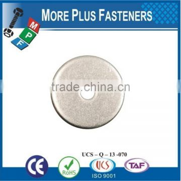 Made in Taiwan Low Carbon Zinc Finish Silicon Bronze Stainless Sleet Thick Fender Washer