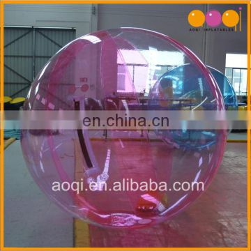 TPU or PVC inflatable water rolling ball inflatable human hamster ball for water game