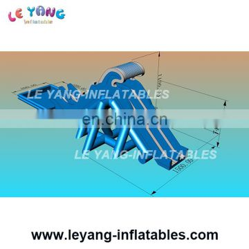 Commercial grade giant slide / inflatable water park pool with slide / outdoor inflatable park