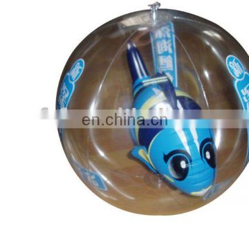 inflatable beach ball with 3D fish inside