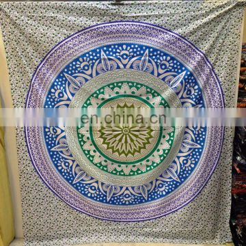 Bohemian Wall Hanging Blanket Tapestries Indian Ombre Tapestry Mandala Hippie Wall Hanging Bohemian Twin Bedspread Home Decor