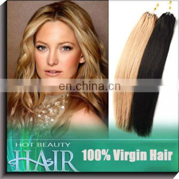 Best Remy Hair Brazilian Micro Beads Hair Weft