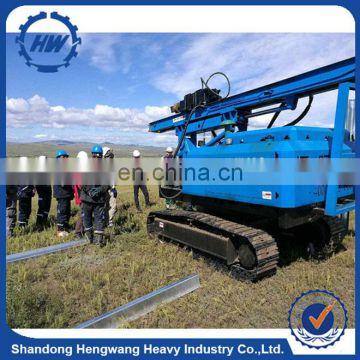 HW expressway construction vibratory Ramming machine hammer,Real estate piling pneumatic cylinder guardrail pile driver